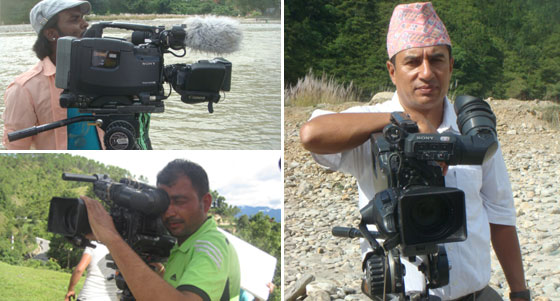 Himali Creation Film Shooting Team